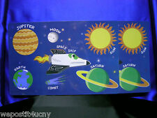 2 Space PlaceMats For Kids Sun Moon Earth Jupiter Saturn Space Shuttle ?