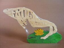 Frog Jumping OR on Lily Pad  Wooden Puzzle  Amish Made Toy Puzzle NEW