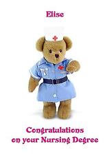 Personalised A5 Nurse Degree Congratulations Card Any Relation New Job Good Luck