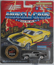 Johnny Lightning -'71/1971 Plymouth HEMI Cuda silbermet. Nuovo/Scatola Originale