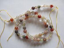 Mix Rutilated quartz round beads 6mm