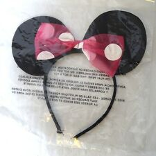Minnie Mouse Ears Headband with Pink Polka Dot Bow Adult Teen One Size