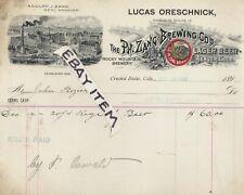 1898 RARE! LUCAS ORESCHNICK Crested Butte Colorado PH. ZANG BREWING CO. Denver