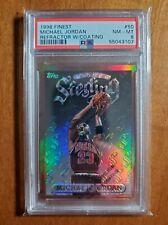1996-97 Topps Finest Michael Jordan Sterling Refractor W/Coating #50 PSA 8 POP47