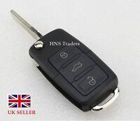 NEW For VW 3 Button Remote Key Fob Case + BLADE Golf Bora Jetta Passat Polo A61+