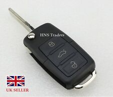 NEW For VW 3 Button Remote Key Fob Case + BLADE Golf Bora Jetta Passat Polo #A61