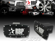 """RBP 2"""" BLACK POWDER COATED ALUMINUM TRAILER TOWING HITCH RECEIVER COVER TRUCK"""