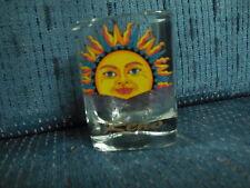 RENO SUN FACE DESIGN SHOOTER SHOT GLASS WHISKEY BAR WARE