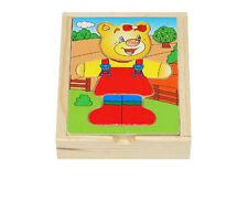 Teddy Bear Wooden Jigsaw Puzzle Puzzl Box Set 9 elements