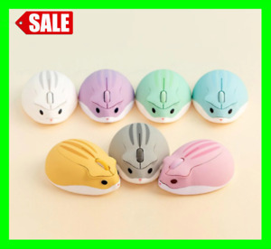 Cute Cartoon Wireless Mouse USB Optical Computer Mini Mouse 1600 DPI Hamster