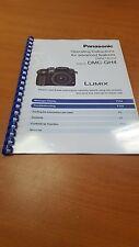 Panasonic DMC-GH4 instrucciones completas de guía manual del usuario impreso de 420 páginas A5