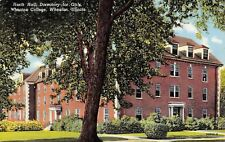 Wheaton College IL North Hall Dormitory For Girls~Quoins & Dormers 1949 Linen
