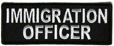 IMMIGRATION OFFICER  - IRON OR SEW ON PATCH
