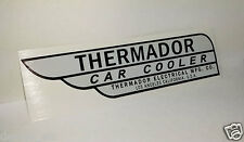 GRAY Thermador Car Cooler Sticker, evaporative swamp cooler decal