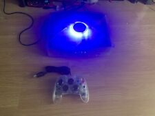 Crystal Xbox, 320GB Hard Drive And Games, Blue Lit Up Jewel And Port LED's