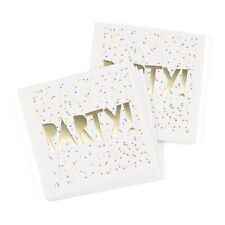 50 Party Time Gold Napkins Birthday Party Wedding Cake Cocktail MW21890