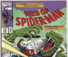 Web of Spider-Man #110 vs Lizard and Warren from Mar. 1994 in VF+ condition DM