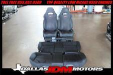 JDM 2003-2008 Subaru Forester SG9 STi OEM Black Seats Front & ReaR