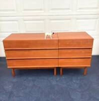 Parker lip sideboard modular bedside tables genuine restored 1960s