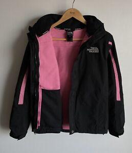 The North Face HyVent 2 in 1 Jacket Womens M Black Pink Fleece Waterproof Hooded