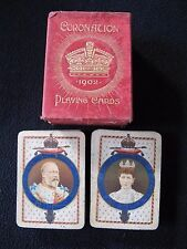 Royalty Playing Cards Coronation 1902 King Edward V11 Antique Double Pack Deck