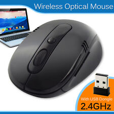 2.4GHz Wireless Cordless Optical Scroll Mouse For PC Laptop Computer with USB UK