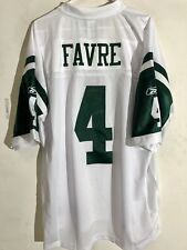 Reebok Premier NFL Jersey New York Jets Brett Favre White sz XL