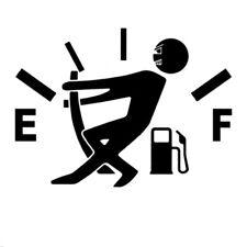 High Gas Consumption Decal Fuel Gage Empty Stickers Funny Vinyl JDM Car Windows