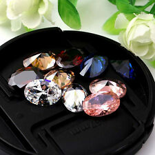10X14mm Oval Cut AAA Natural Zircon Gems Diamonds VVS Loose Gemstones 5Colors
