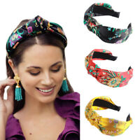 Women Fashion Flower Headband Knot Hairband Chic Hair Band Accessories Party