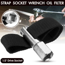 120mm 1/2''Drive Socket Oil Filter Remover Nylon Strap Type Wrench Tool Removing