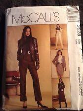 McCalls Misses Wardrobe Jacket, Skirt Pants Suit Pattern 3028 UNCUT 12-14-16