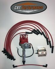 Pontiac 350 389 400 455 Small Cap Red Hei Distributor 60k Coil Plug Wire Set