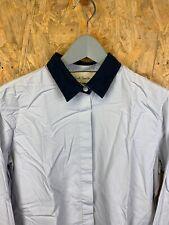 PAUL SMITH, Mens Size M, L.Blue - Navy Collar, LS Slim Fit Shirt,*EX COND*
