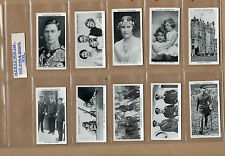 More details for wills our king and queen 1937 complete set of 50 in plastic sleeves