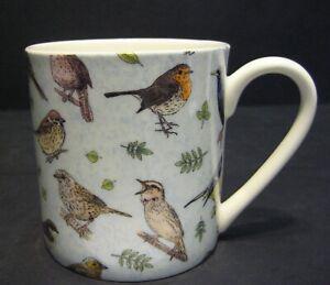 Extra Large Fine Bone China One Pint Pot Mug British Birds Chintz By Crown Trent