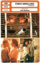 FICHE CINEMA : ETROITE SURVEILLANCE - Dreyfuss,Stowe,Quinn,Badham 1987 Stakeout