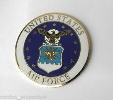 US AIR FORCE USAF LARGE LAPEL PIN BADGE 1.5 INCHES