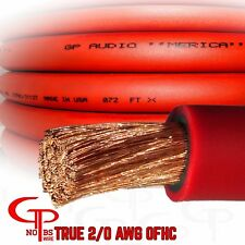 15 ft TRUE AWG 2/0 Gauge COPPER Power Wire RED Ground Cable GP Car Audio USA