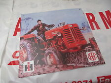Case IH Decorative Embossed Metal Plate 'Farmall' Collectors Metal Plaque