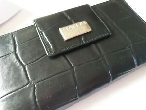 DENTS BLACK CROCODILE EFFECT LEATHER PURSE RRP ��43! NEW WITH TAGS