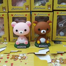 San-X Rilakkuma Relax Bear Car Accessories Shaking-Head-Doll Home Decor Gift