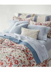 New Ralph Lauren Kelsey Red Cream Floral King Duvet Cover & Shams Set 3pc
