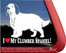 I Love My Clumber Spaniel | High Quality Vinyl Dog Window Decal Sticker