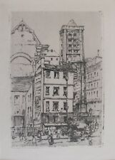 "Katharine Kimball: ""Saint-Nicolas-du-Chardonnet"" [Paris] - Orig. Etching - 1911"
