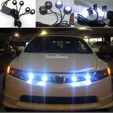Lamp+Remote 4 pcs LED Eagle Eye Night Rider Scanner Lighting DRL Flashing Lights