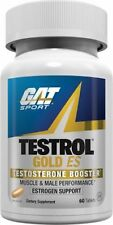 GAT Testrol GOLD ES Testosterone Booster 60 Caps MALE Estrogen Support FREE SHIP