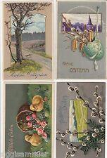 Frohe Ostern Lot 4 Präge-AK 1906-1912 Künstler Ostern Easter 1603072