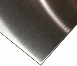 Stainless Steel 304 Brushed DP1 Satin. Laser cut. 4mm Thick sheet/plate