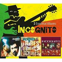 INCOGNITO 3 Essential Albums 3CD NEW Inside Life/Tribes Vibes & Scribes/Stranger